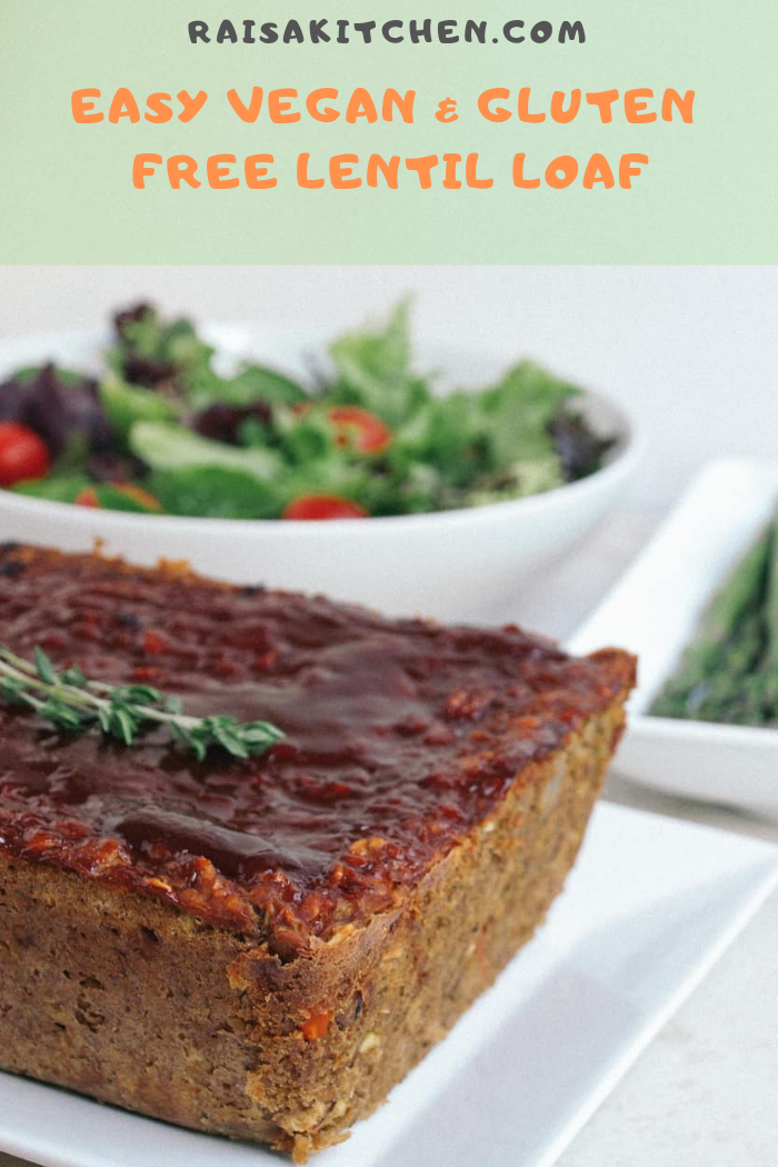 Easy Vegan and Gluten-Free Lentil Loaf