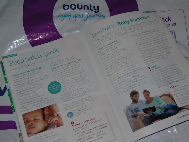 Bounty pack sleep safety guide with Lullaby Trust