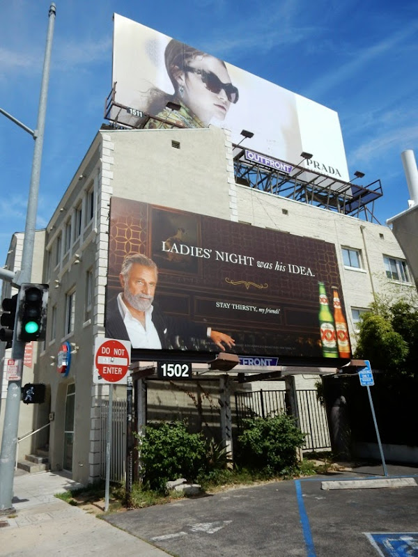 Dos Equis Ladies night was his idea billboard