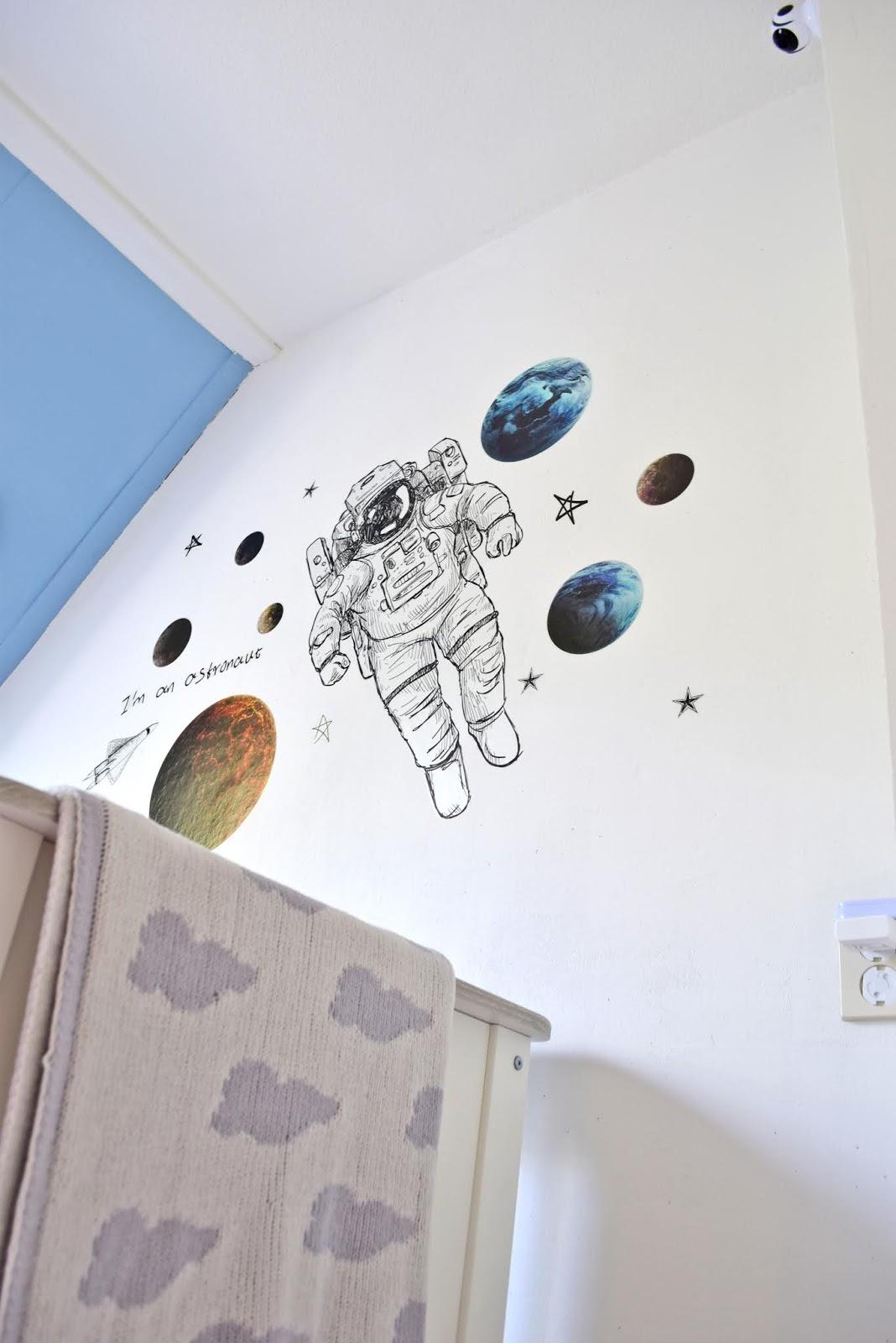 Motyw kosmosu do dziecięcego pokoju.