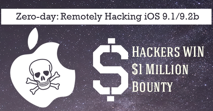 Hackers WIN $1 Million Bounty for Remotely Hacking latest iOS 9 iPhone