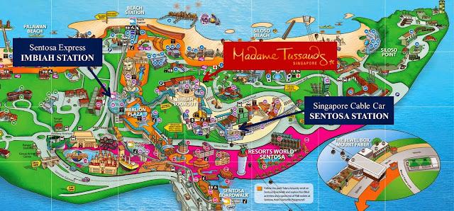 Pulau Sentosa Map