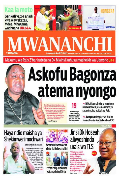 Habari kubwa za Magazeti ya Tanzania leo Aprili 17, 2021