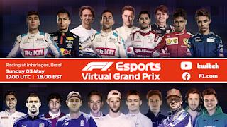 Resultado Carrera Virtual de F1 Brasil 3-5-2020