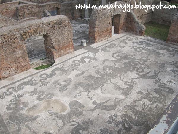 Baños de Neptuno en Ostia Antica