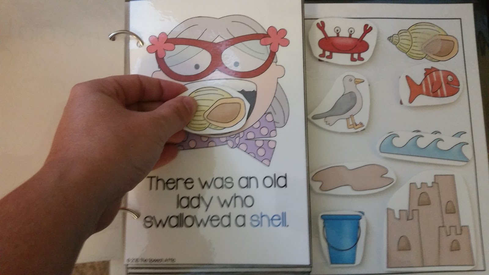 The Speech Attic Wacky Wednesday Book Club There Was An Old Lady Who Swallowed A Shell