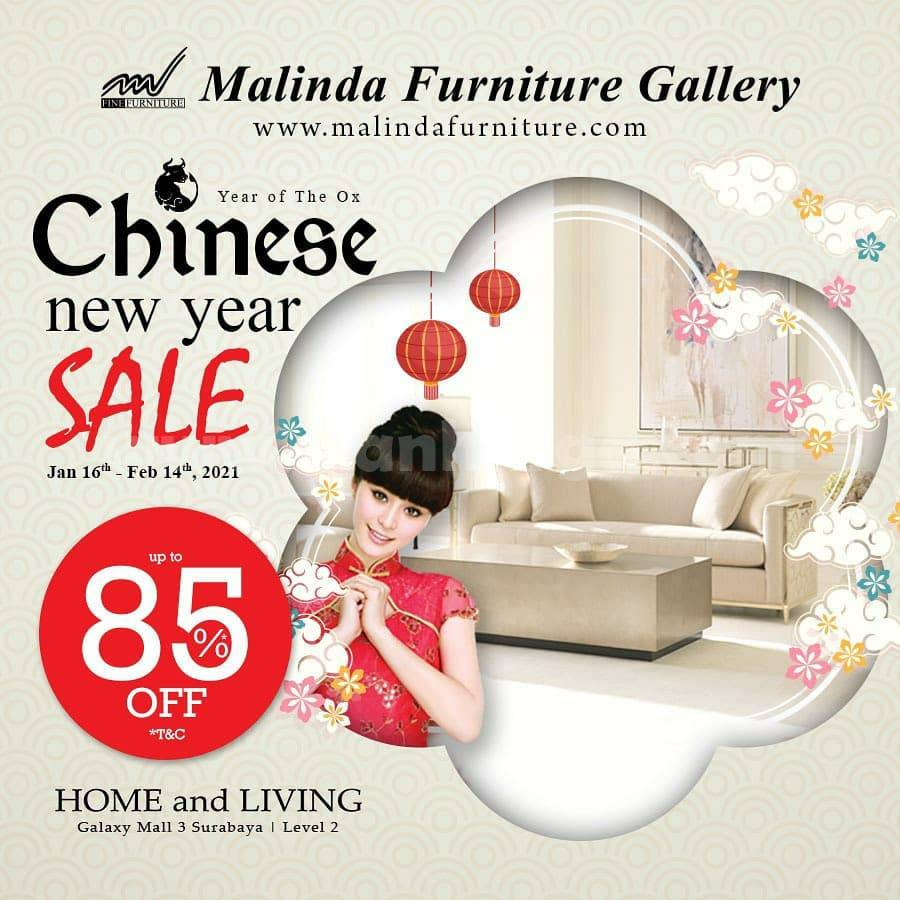 Promo Malinda Furniture Gallery! Chinese New Year Sale up to 85% Off