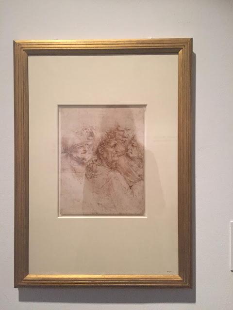 Leonardo da Vinci sketch in the Kelvingrove Art Gallery & Museum, Glasgow, Scotland
