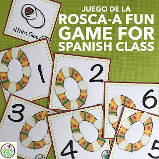 Juego de la Rosca de Reyes for Spanish Class