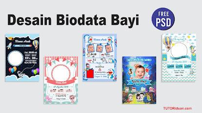 Desain Biodata Bayi Free PSD