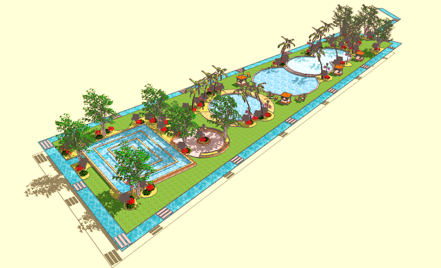 Desain Pool Area (Kolam Renang)