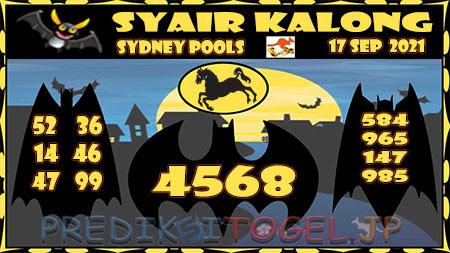 Prediksi Togel Kalong Sidney Jumat 17 September 2021
