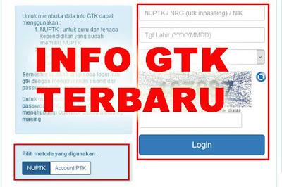 Info GTK 2019/2020 atau Info Guru Untuk Cek SKTP Tahun 2020