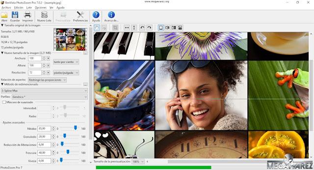 Benvista PhotoZoom Pro 7.0.2 imagenes