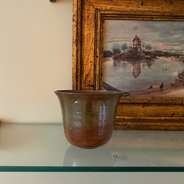 small vintage studio pottery bowl
