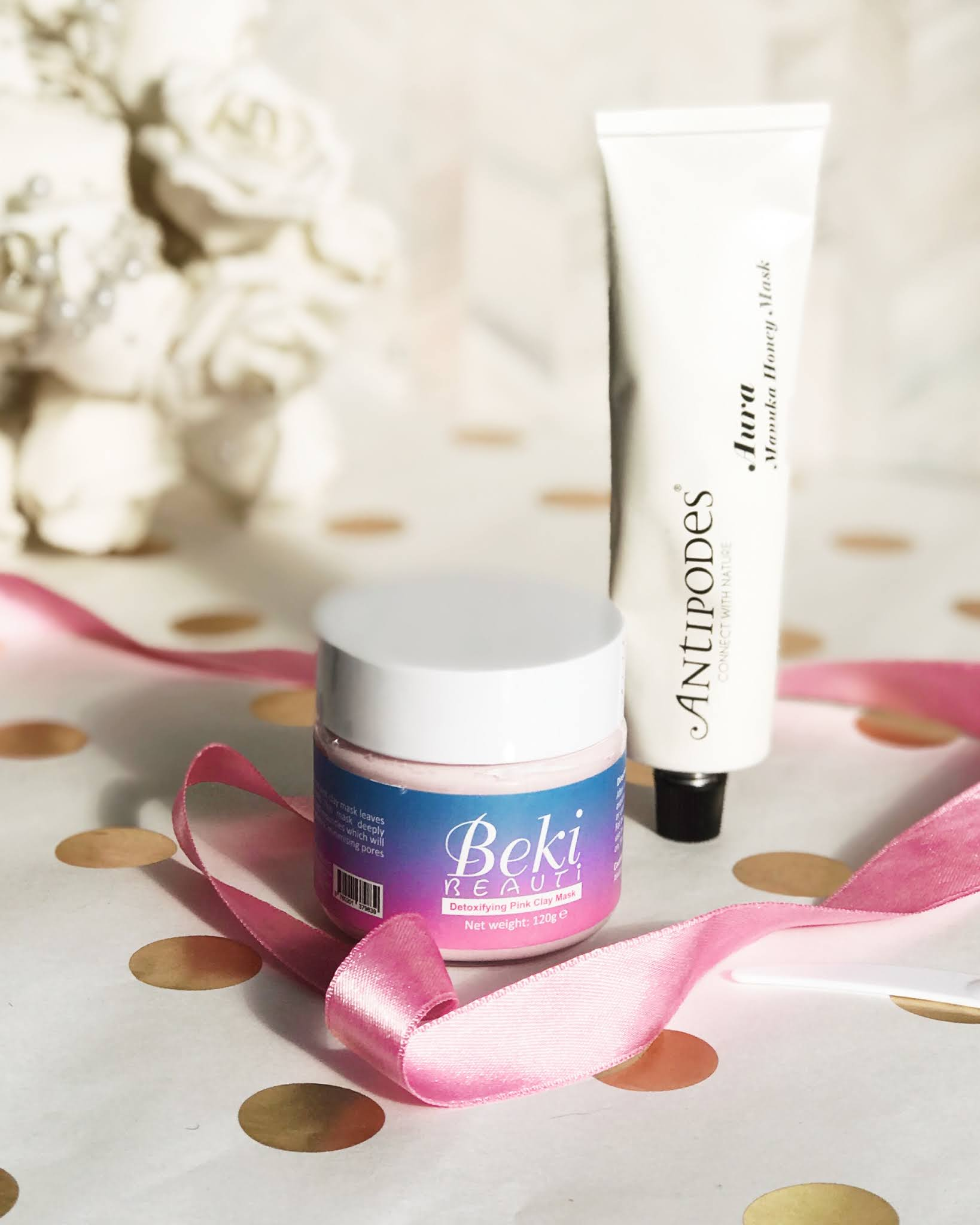 Beki Beauti mask and Antipodes Aura mask