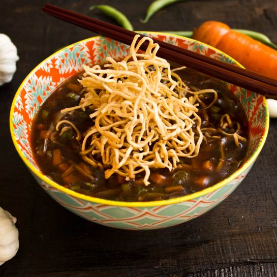 Delicious Veg Manchow Soup recipe at home restuarent style