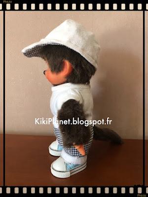 kiki monchhichi vintage couture vêtement casquette fait main handmade