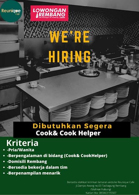 lowongan-kerja-cook-cook-helper-reunique-cafe-rembang
