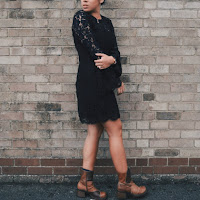 Ana Maddock- Friday Flares- Na-kd Trumpet Sleeve Dress