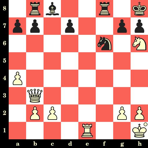 Les Blancs jouent et matent en 4 coups - Siegbert Tarrasch vs Arthur Kurschner, Nuremberg, 1889