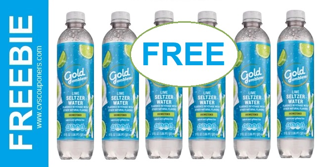 FREE Gold Emblem Sparkling Water at CVS 714-720