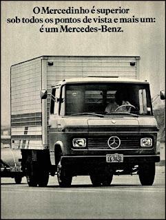 propaganda caminhão Mercedes-Benz - 1975, Mercedes-Benz do Brasil anos 70, Mercedes-benz década de 70, caminhão mercedes, Oswaldo Hernandez, Mercedinho 75,