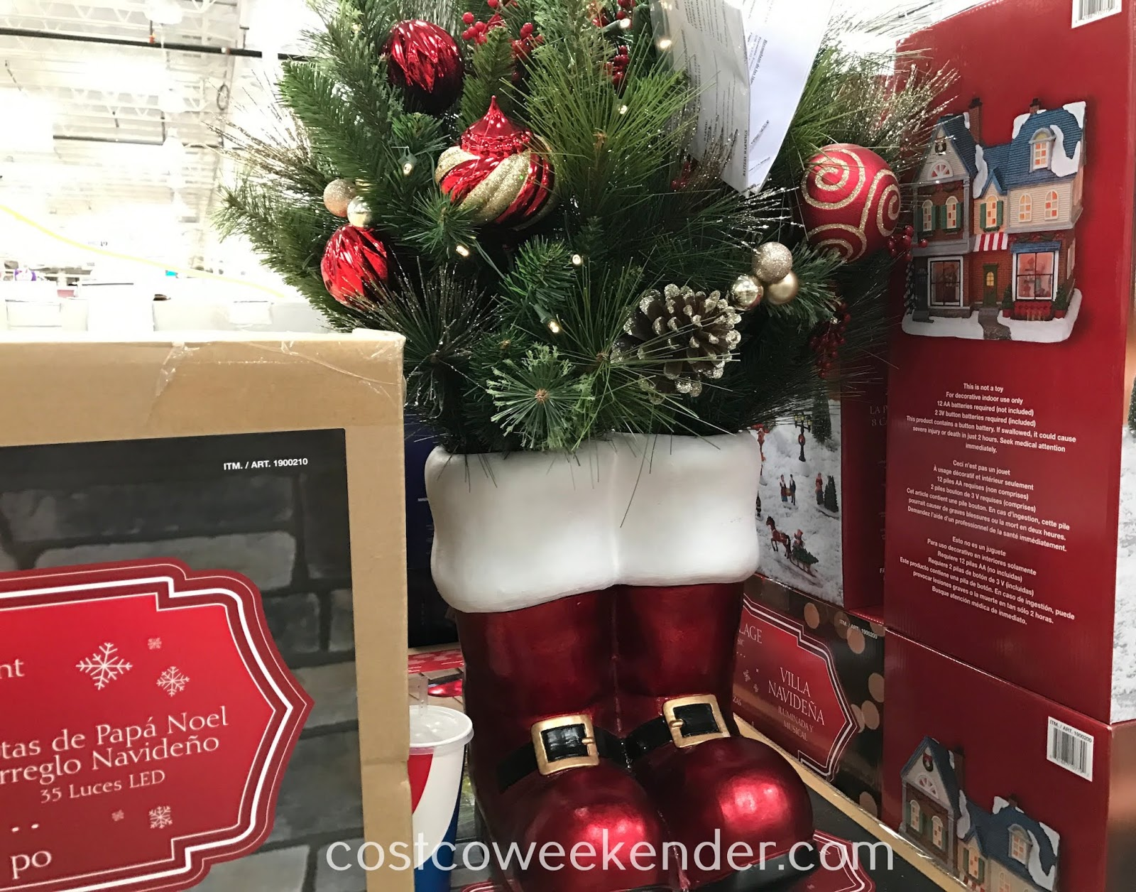 36 Decorated Santa Boot Costco Weekender