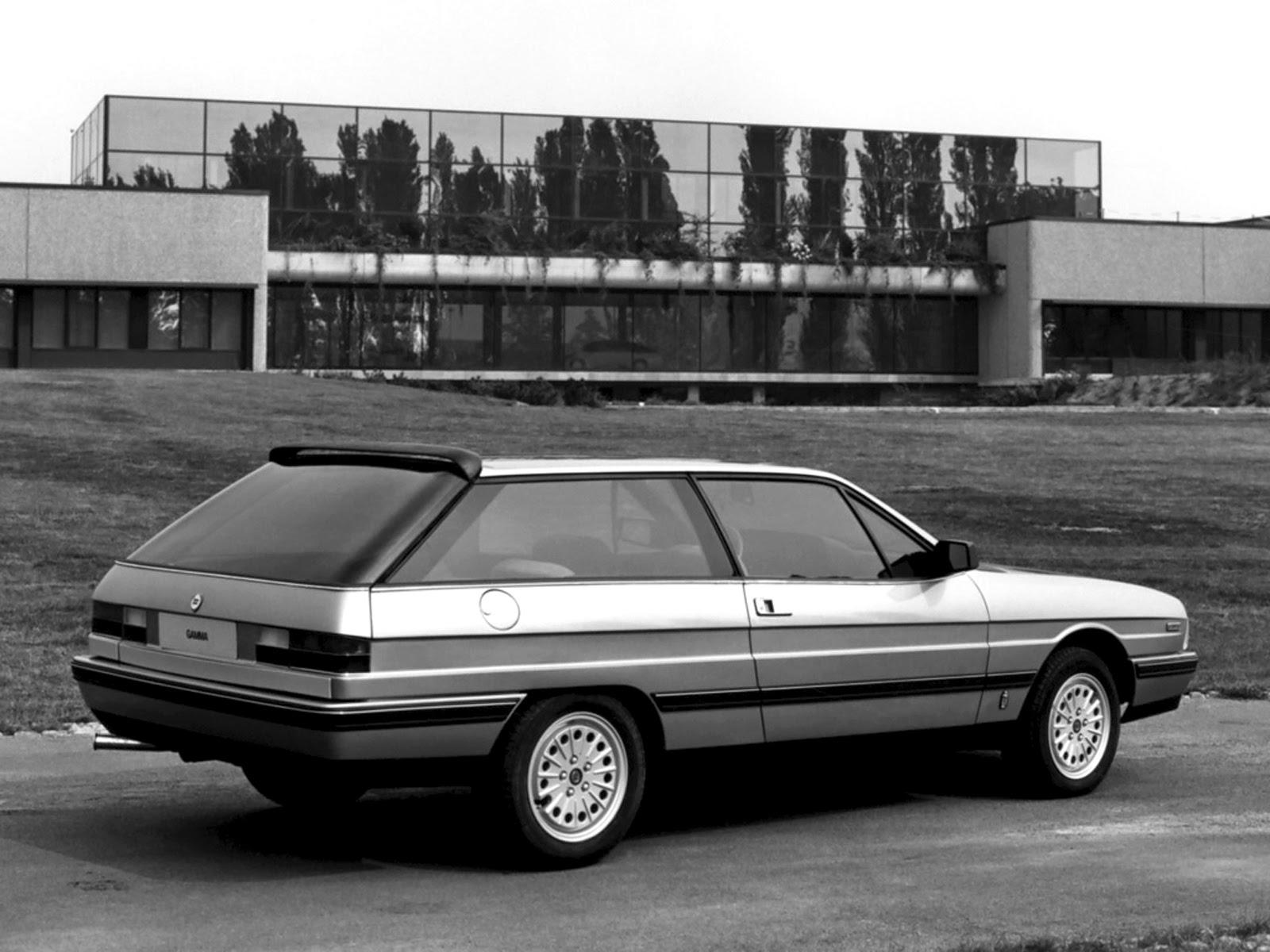 stormwheels 1982 paris autoshow pininfarina lancia gamma olgiata prototipo an estate. Black Bedroom Furniture Sets. Home Design Ideas