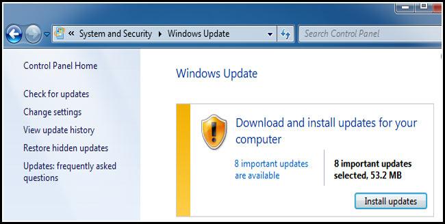 حماية windows 7