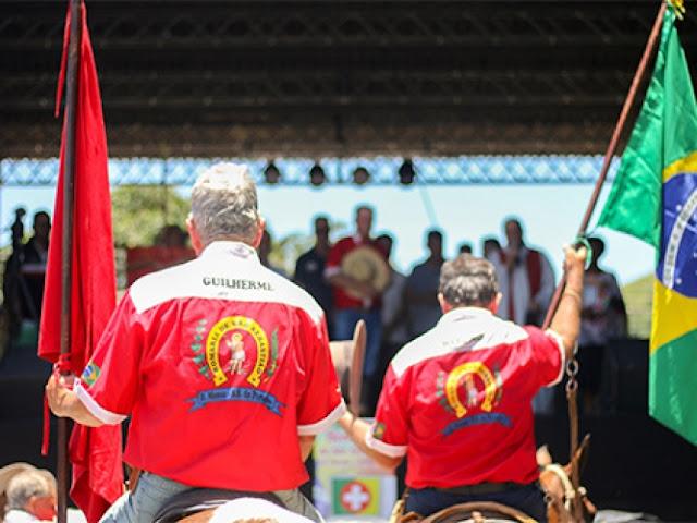 Tradição da romaria montada que sai de Barra Mansa rumo à São Sebastião do Paraíba