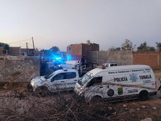 Multihomicidio en Tonalá; 11 muertos acribillados durante una fiesta. Foto de la reportera Rosario Álvarez F. @RoAlva93