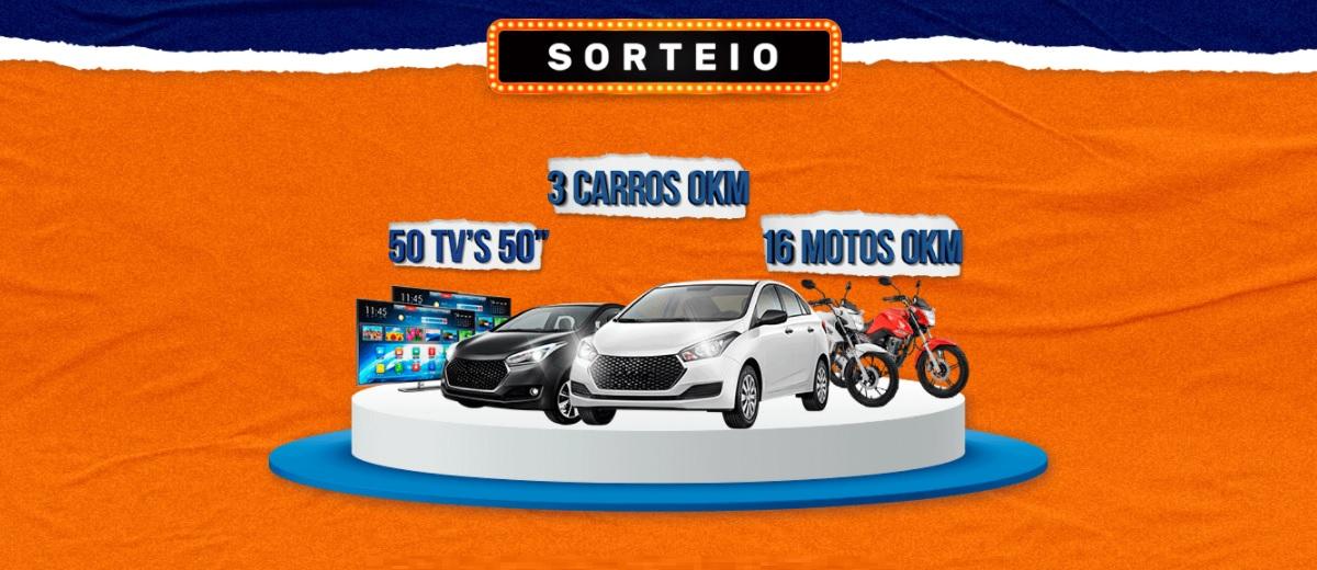 Promoção Compra Premiada Martins Atacado 3 Carros 50 Tvs de 50 e 16 Motos 0KM