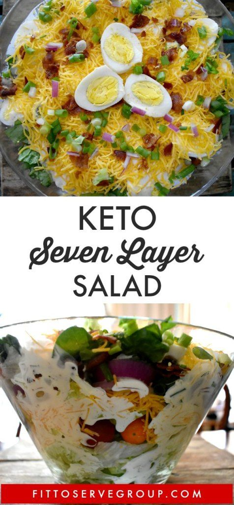 Keto Layered Salad An Easy Crowd Pleaser (Seven Layer Salad)