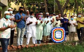 সাবেক কাউন্সিলর রাসেল'এর'পিতা  ছাবের আহম্মেদ'র মৃত্যুতে ইপিজেড বিএনপির শোক শ্রদ্ধা নিবেদন