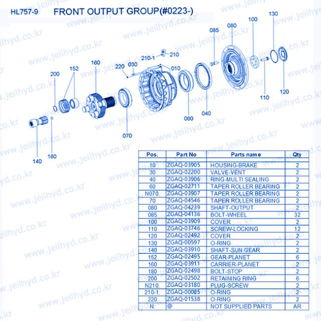 ZGAQ-03905 HOUSING-BRAKE ZGAQ-02200 VALVE-VENT ZGAQ-03906 RING-MULTI SEALING ZGAQ-02711 TAPER ROLLER BEARING ZGAQ-03907 TAPER ROLLER BEARING ZGAQ-04546 TAPER ROLLER BEARING ZGAQ-04239 SHAFT-OUTPUT ZGAQ-04136 BOLT-WHEEL ZGAQ-03909 COVER ZGAQ-03746 SCREW-LOCKING ZGAQ-02492 COVER ZGAQ-00597 O-RING ZGAQ-03910 SHAFT-SUN GEAR ZGAQ-02495 GEAR-PLANET ZGAQ-03911 CARRIER-PLANET ZGAQ-02498 BOLT-STOP ZGAQ-02502 RETAINING RING ZGAQ-03180 PLUG-SCREW ZGAQ-00085 O-RING ZGAQ-01538 O-RING