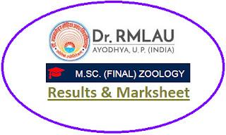Ayodhya University M.Sc Zoology Final Result 2021