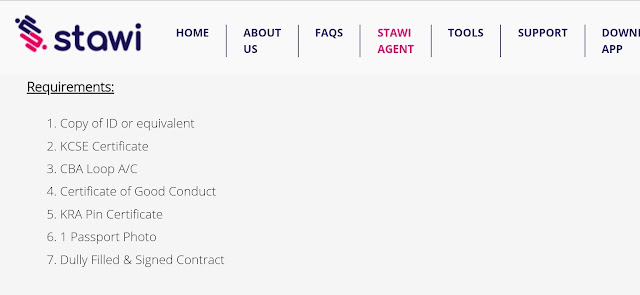 Stawi Agent Requirements