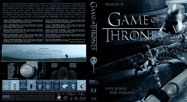 Capa Bluray Game Of Thrones Segunda Temporada Completa