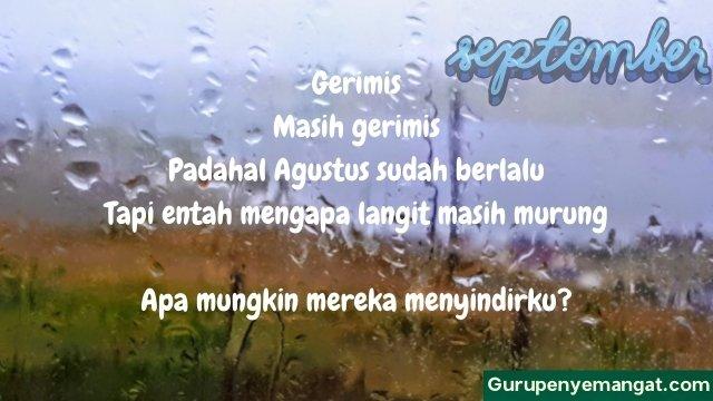 Puisi Hujan di Bulan September