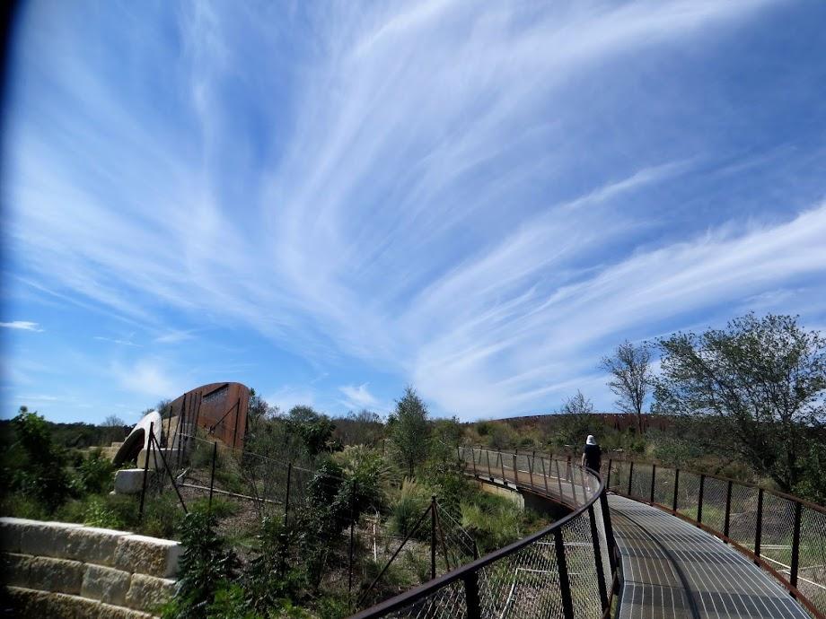 Stunning sky show, Phil Hardberger Park Skywalk, San Antonio, Texas, Saturday, October 16, 2021