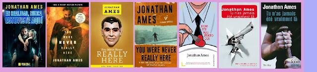 portadas del libro de género negro En realidad, nunca estuviste aquí, de Jonathan Ames