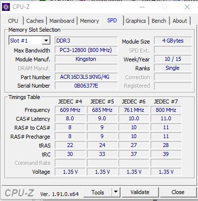 CPU-Z in Laptop