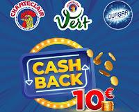 """Promozione """"Cashback 10 euro"""" : con Chanteclair e Quasar spendi e riprendi 10€"""
