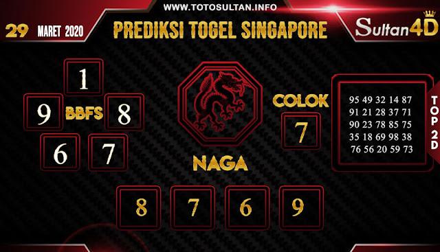 PREDIKSI TOGEL SINGAPORE SULTAN4D 29 MARET 2020
