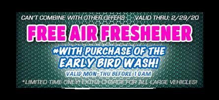 car wash free air freshener