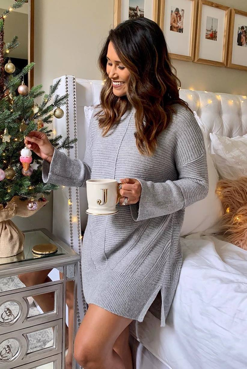 cute sweater dress for this christmas