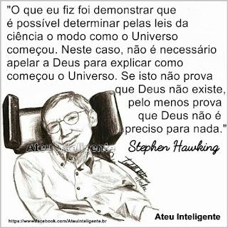 Pensamento de Stephen Hawking sobre Deus