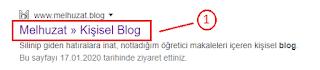 Blogger Title Ayarları