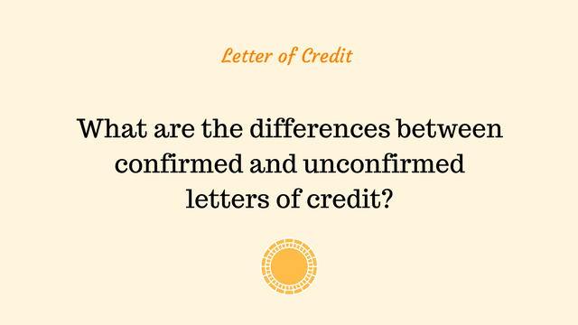 What are the differences between confirmed and unconfirmed letters of credit?